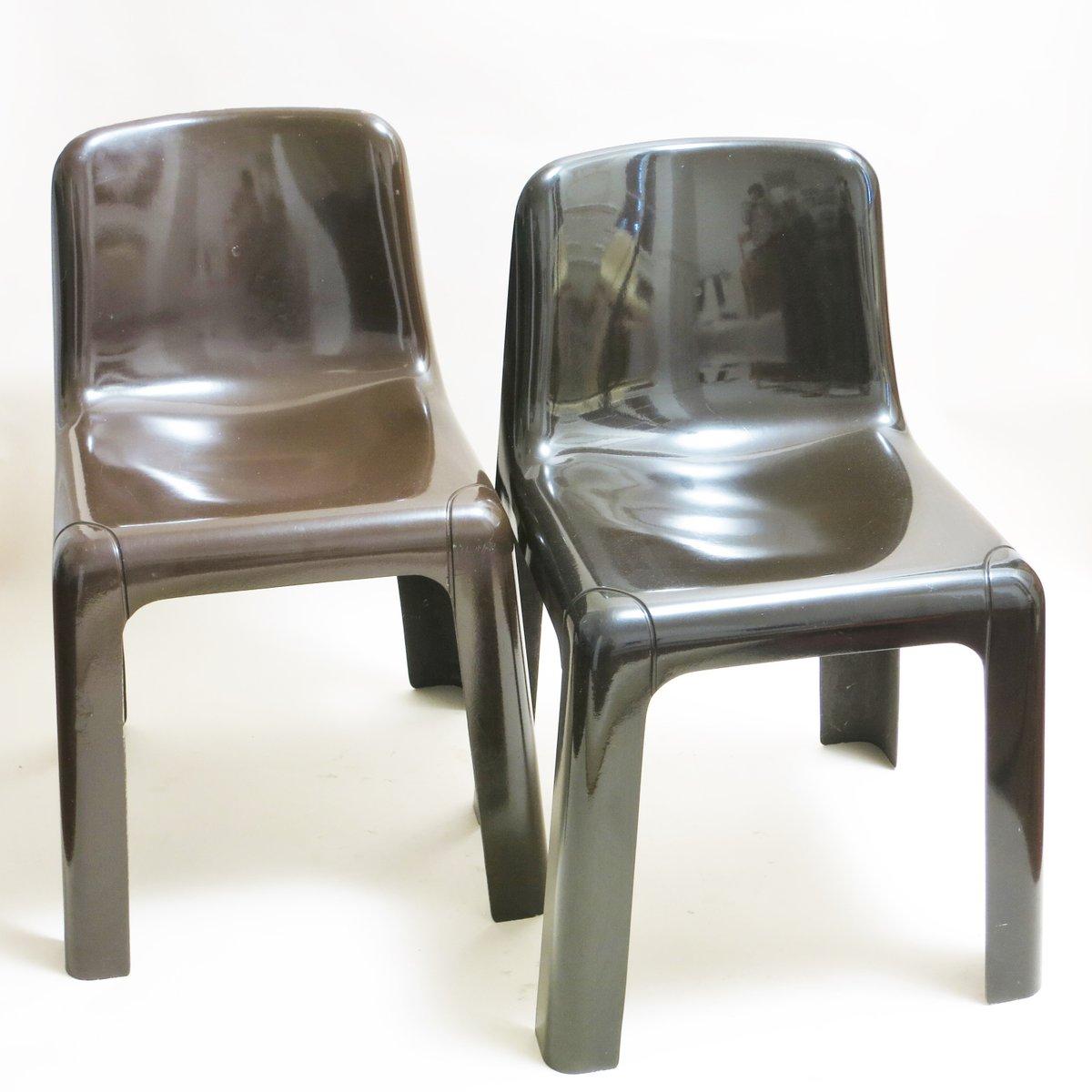 chaises empilables mod le ozoo 700 marron par marc berthier pour roche bobois en vente sur pamono. Black Bedroom Furniture Sets. Home Design Ideas