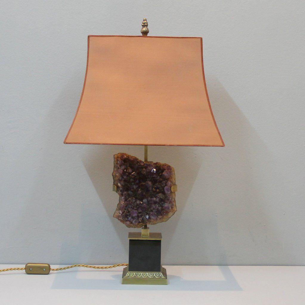 Lampe de table de chevet en am thyste belgique en vente for Lampe de chevet anglais