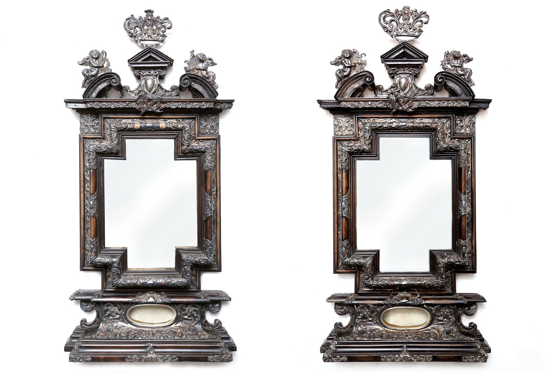antike italienische barocke spiegel 2er set bei pamono kaufen. Black Bedroom Furniture Sets. Home Design Ideas