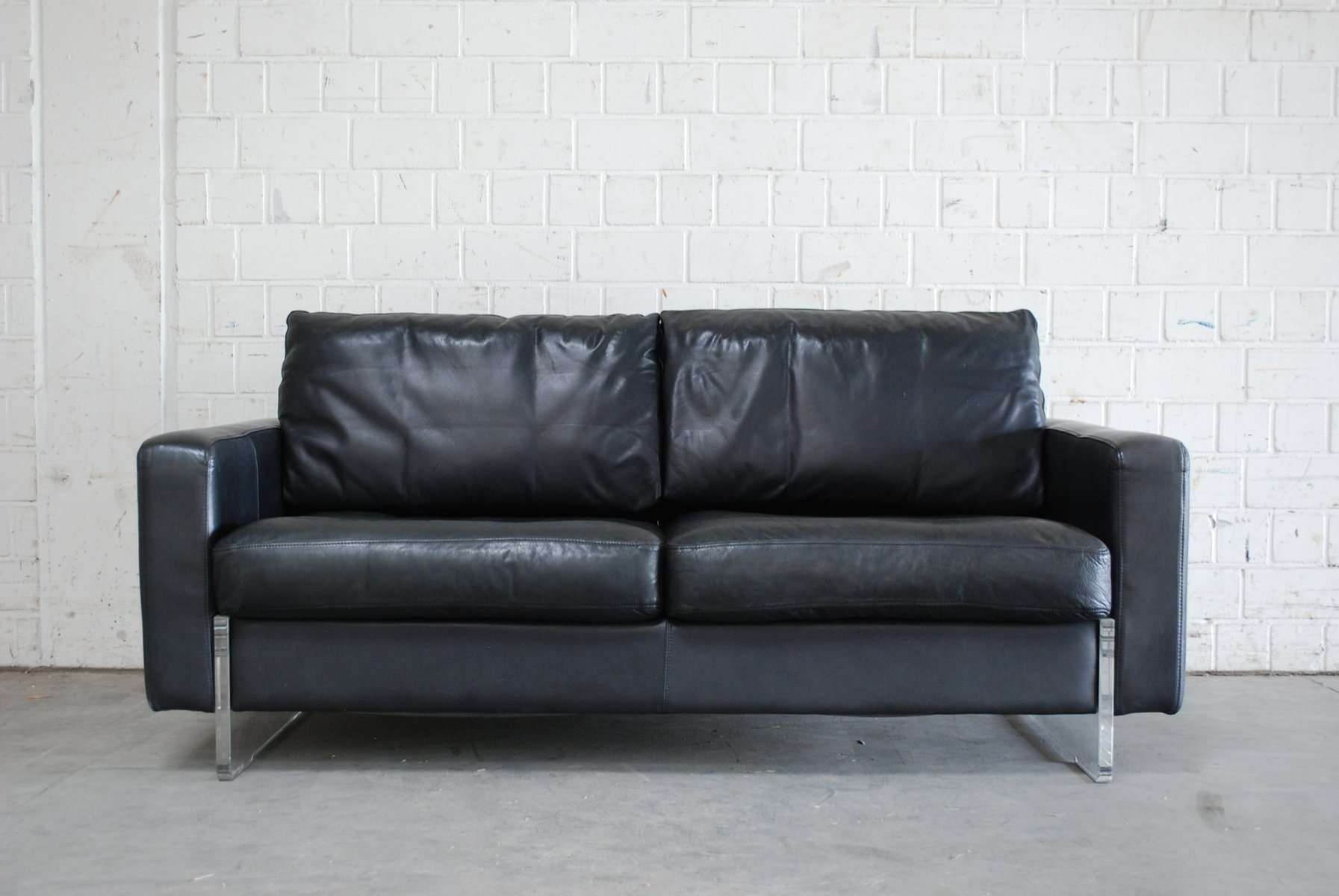 Vintage Black Leather Sofa Sofa Menzilperde Net
