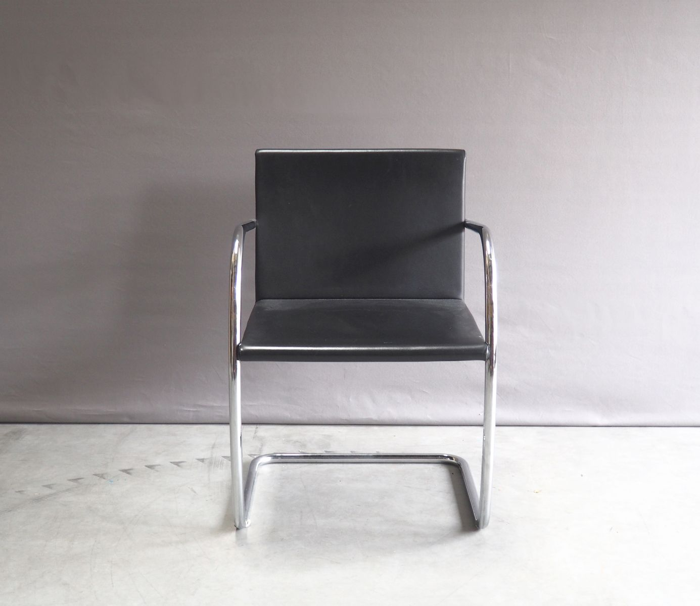 Mies Brno Chair chrome and leather brno chairmies van der rohe for knoll