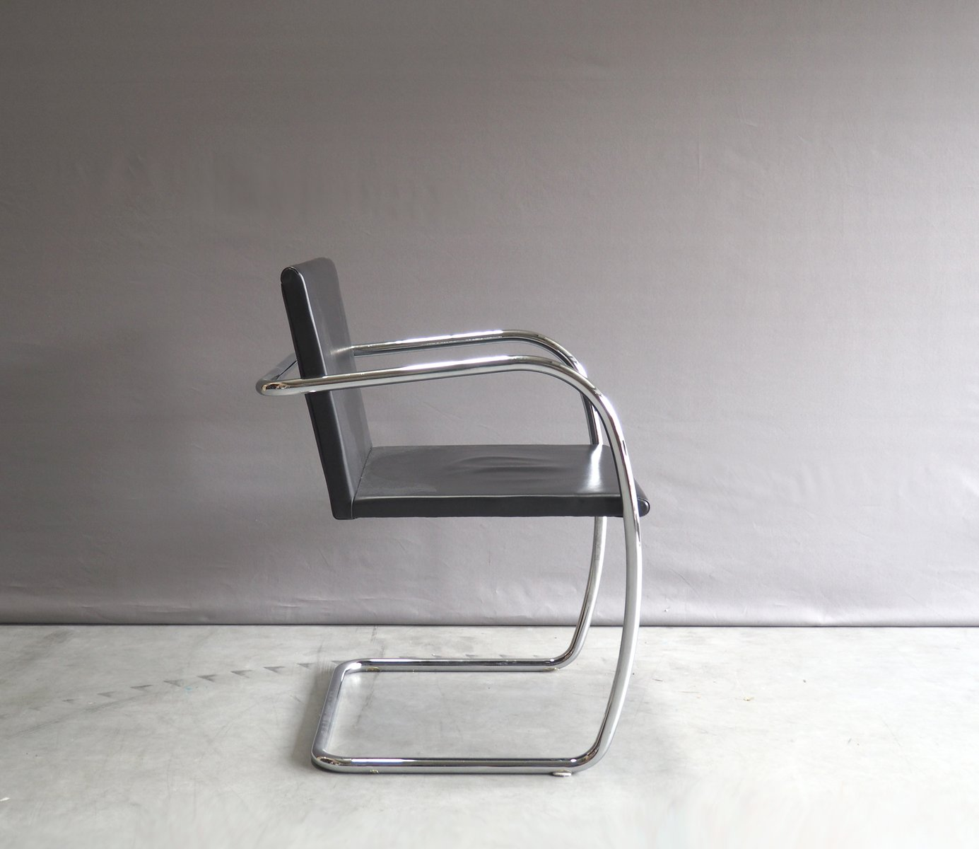 Chrome And Leather Brno Chair By Mies Van Der Rohe For Knoll, 1930s