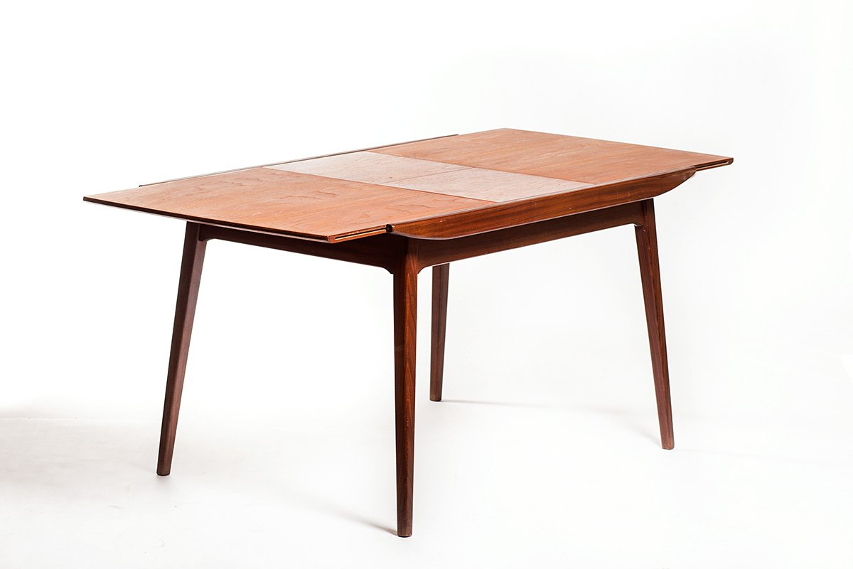 Extendable Mid Century Teak Dining Table By Louis Van Teeffelen For W B For