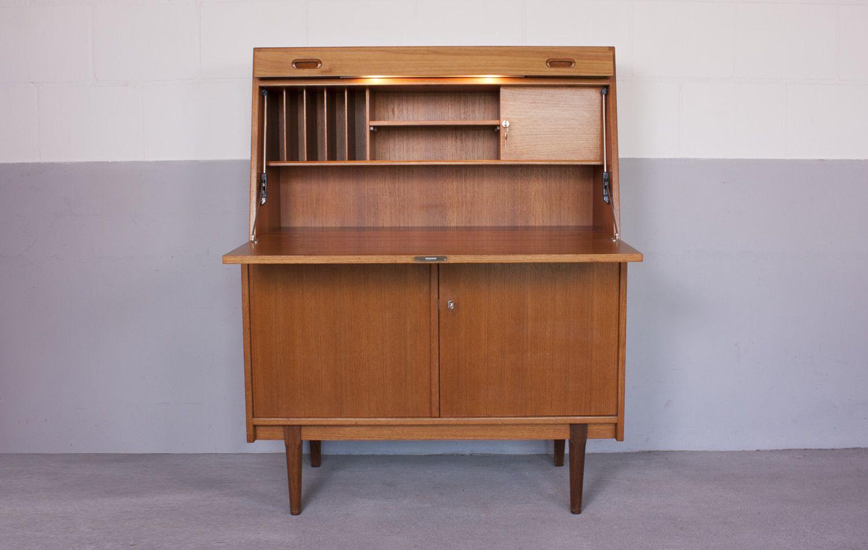 d nischer mid century sekret r aus buchenholz bei pamono kaufen. Black Bedroom Furniture Sets. Home Design Ideas