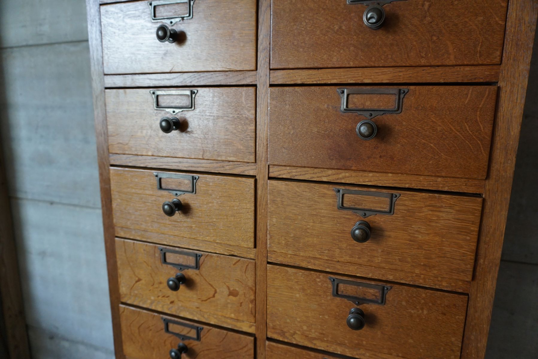French Oak Haberdashery Cabinet, 1920s for sale at Pamono