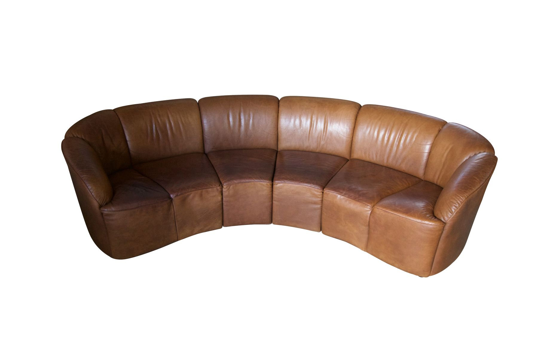 Modular Cognac Leather Sofa From Knoll International 1970s For Sale At Pamono