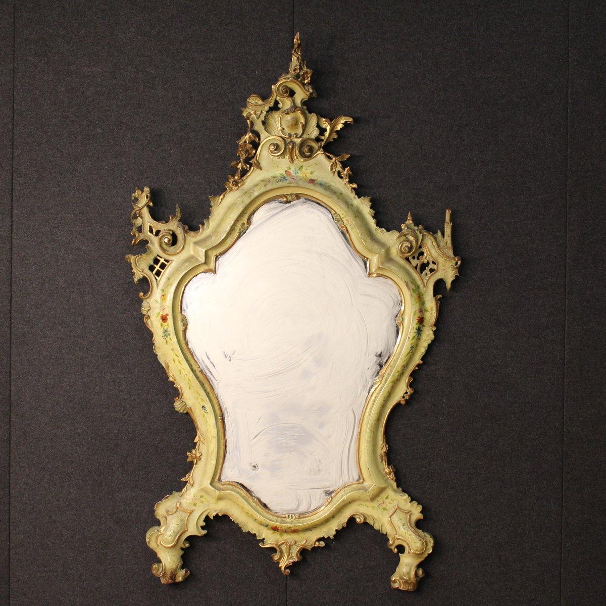 antiker venezianischer spiegel mit vergoldetem rahmen. Black Bedroom Furniture Sets. Home Design Ideas