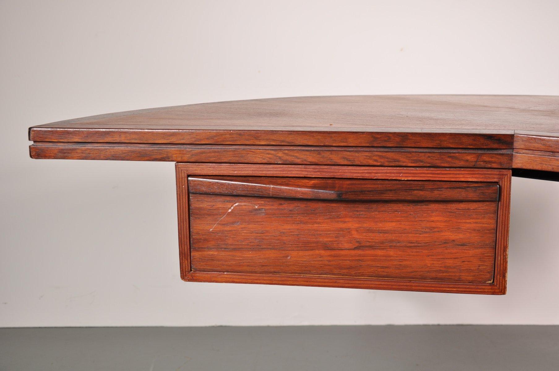 niederl ndischer geschwungener palisander schreibtisch. Black Bedroom Furniture Sets. Home Design Ideas