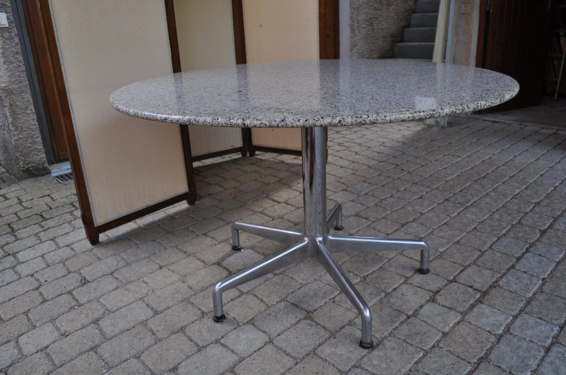 Table ronde de salle manger vintage en granite en vente sur pamono - Salle a manger en solde ...