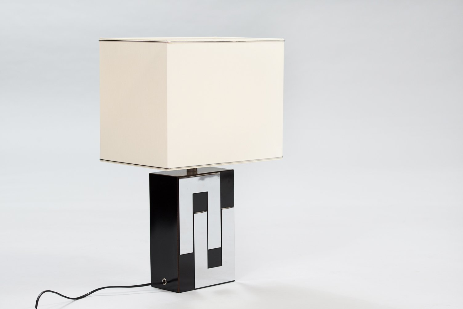 Vintage French Formica U0026 Chrome Table Lamp
