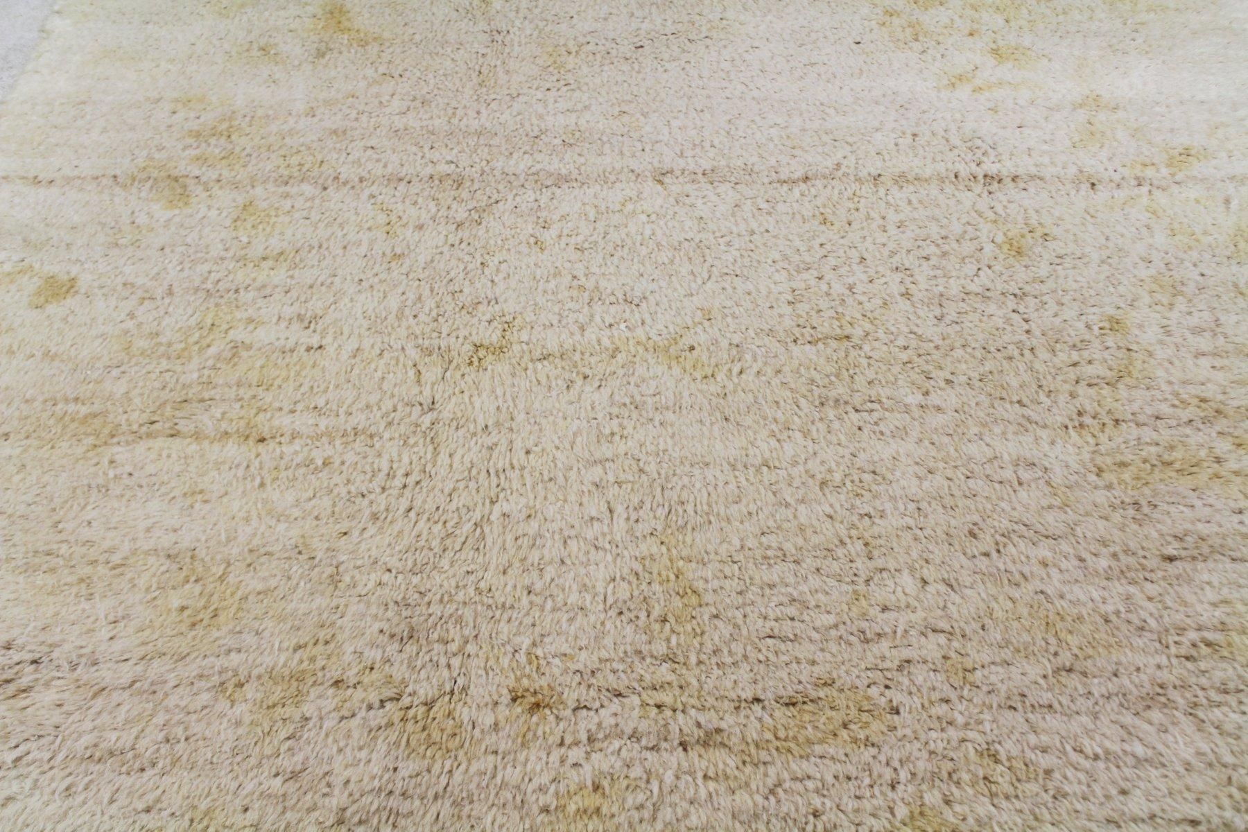 beni ourain goldener cremefarbene marokkanischer teppich 1940er bei pamono kaufen. Black Bedroom Furniture Sets. Home Design Ideas