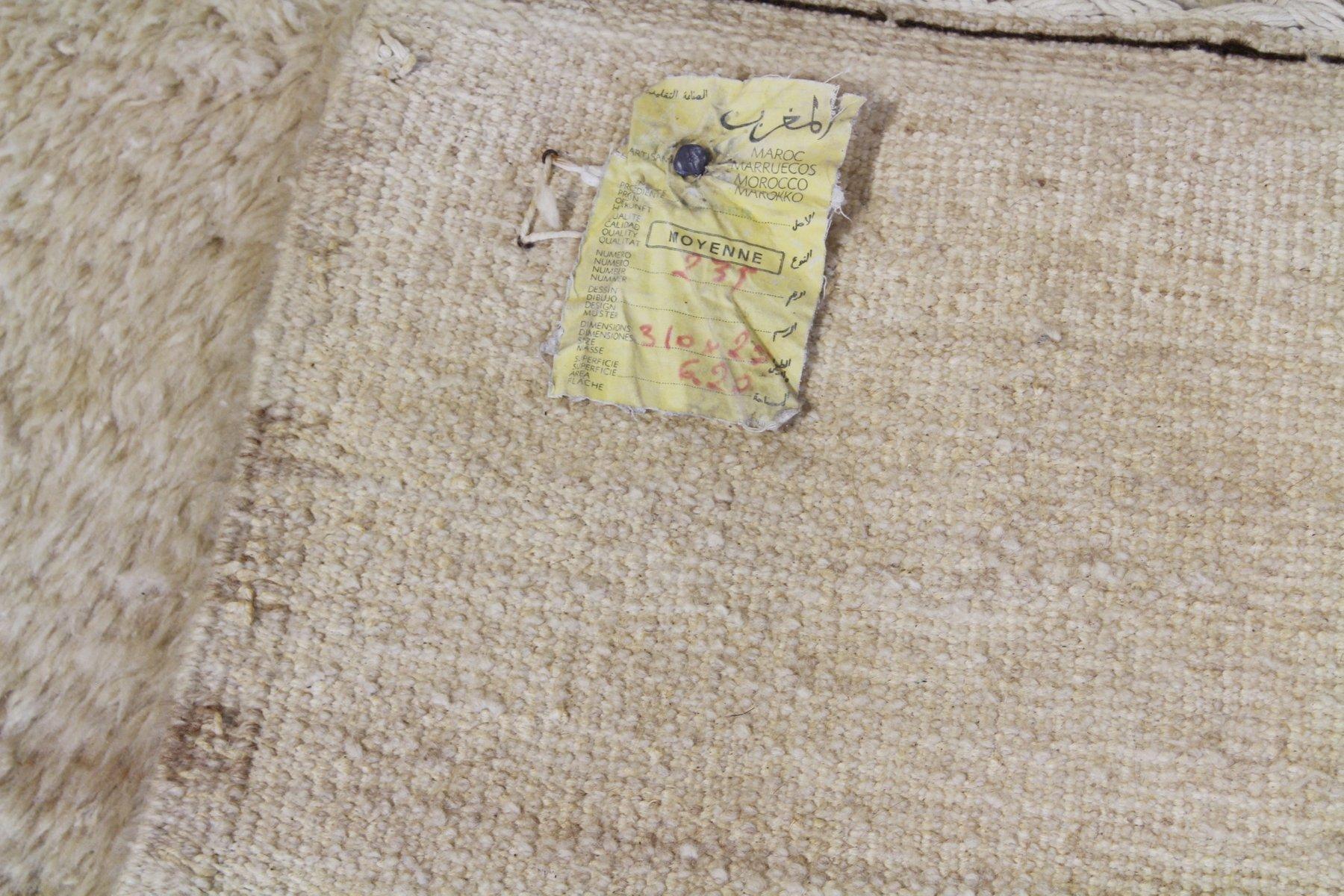 beni ourain golden cream moroccan rug 1940s for sale at. Black Bedroom Furniture Sets. Home Design Ideas