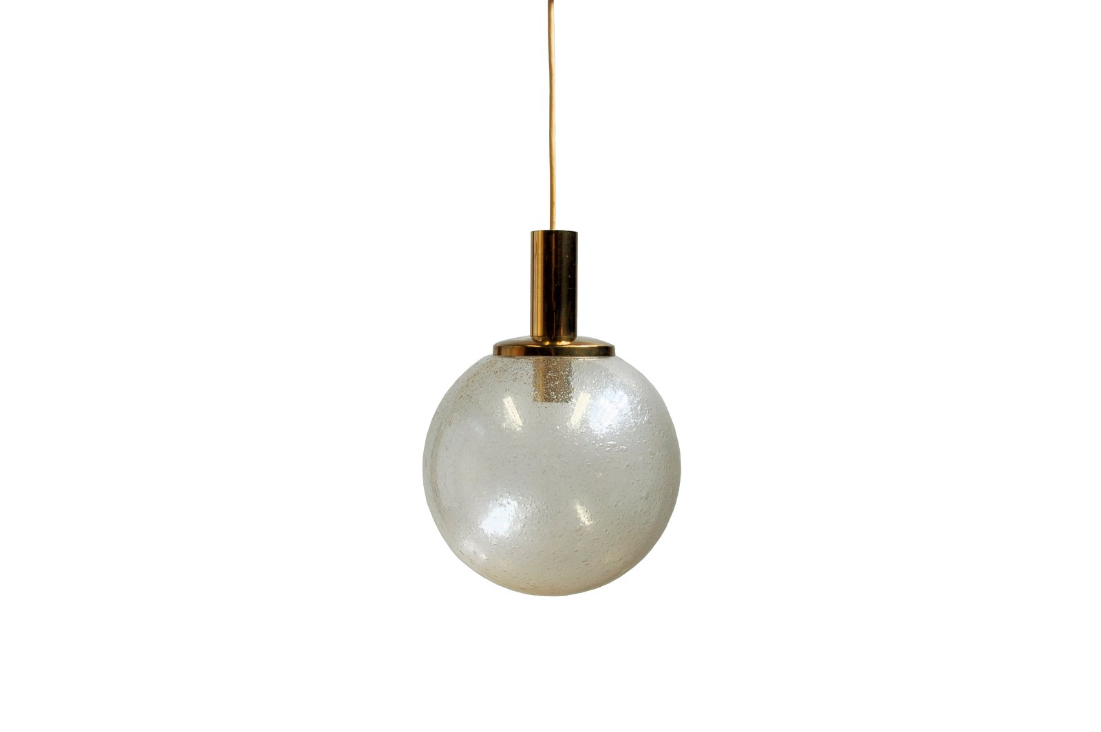 Large Vintage Glass Globe Pendant Lamp For Sale At Pamono