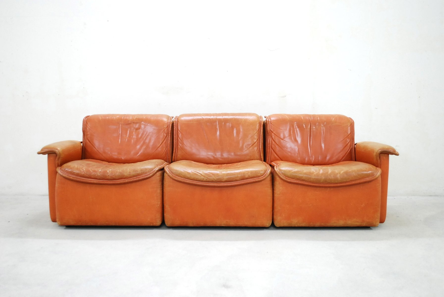 Sofa Cognac ds 12 modular cognac leather sofa from de sede 1980 for sale at pamono