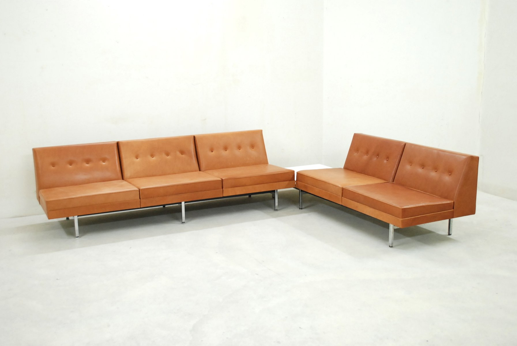 Cognac leather modular sofa set by george nelson for herman miller cognac leather modular sofa set by george nelson for herman miller 1968 parisarafo Choice Image