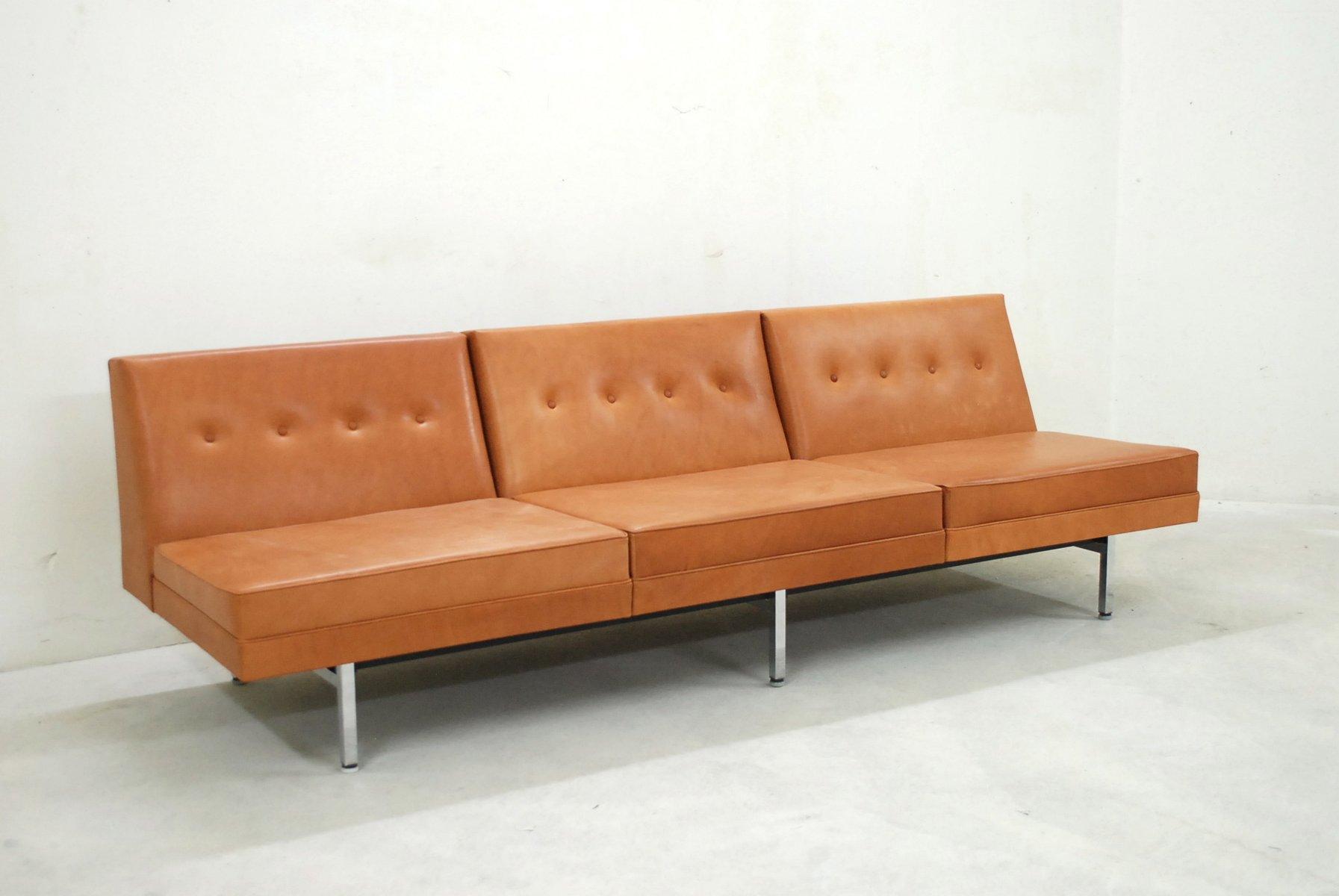 modulares cognac ledersofa set von george nelson f r. Black Bedroom Furniture Sets. Home Design Ideas