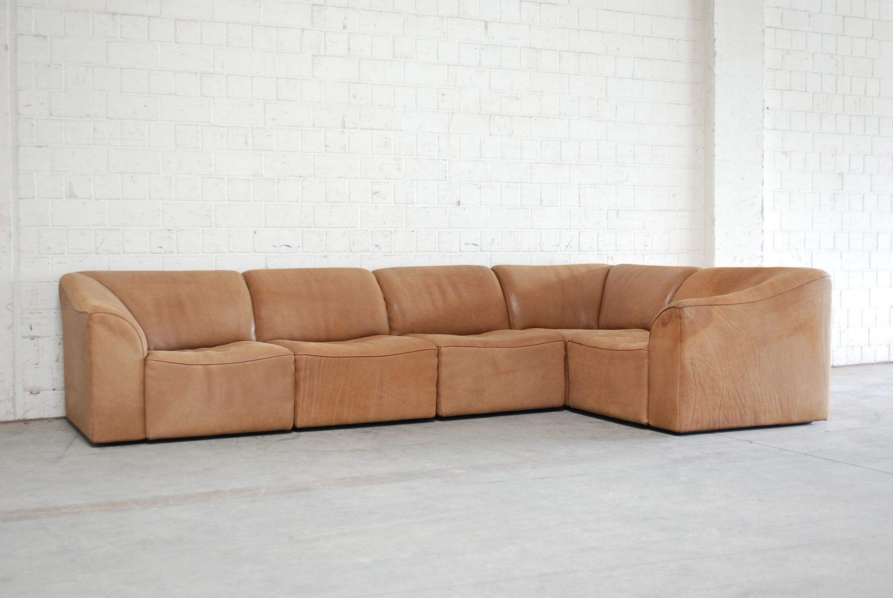 Modular DS 10 Leather Sofa from de Sede for sale at Pamono