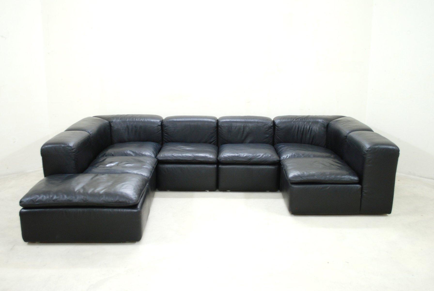 modular black cube design wk 550 leather sofa by ernst. Black Bedroom Furniture Sets. Home Design Ideas