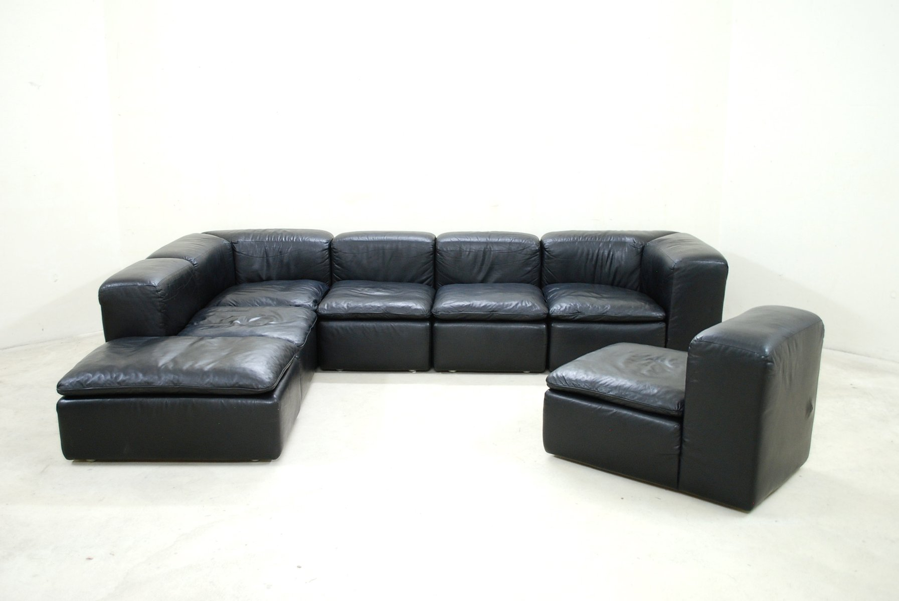 modular leather sofa kivik sectional 6 seat grann bomstad dark brown ikea thesofa. Black Bedroom Furniture Sets. Home Design Ideas