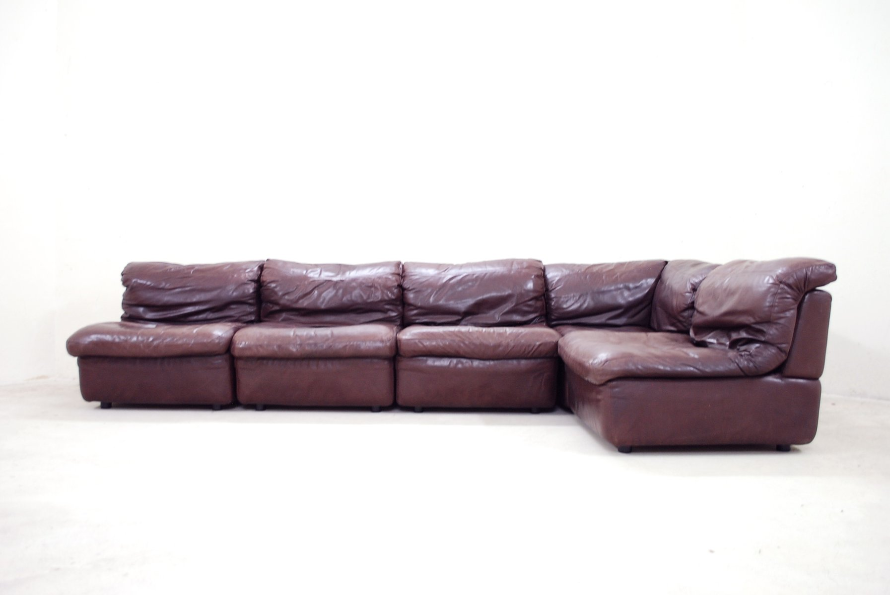 Modular Bordeaux Leather Sofa From Rolf Benz 1985 For Sale At Pamono