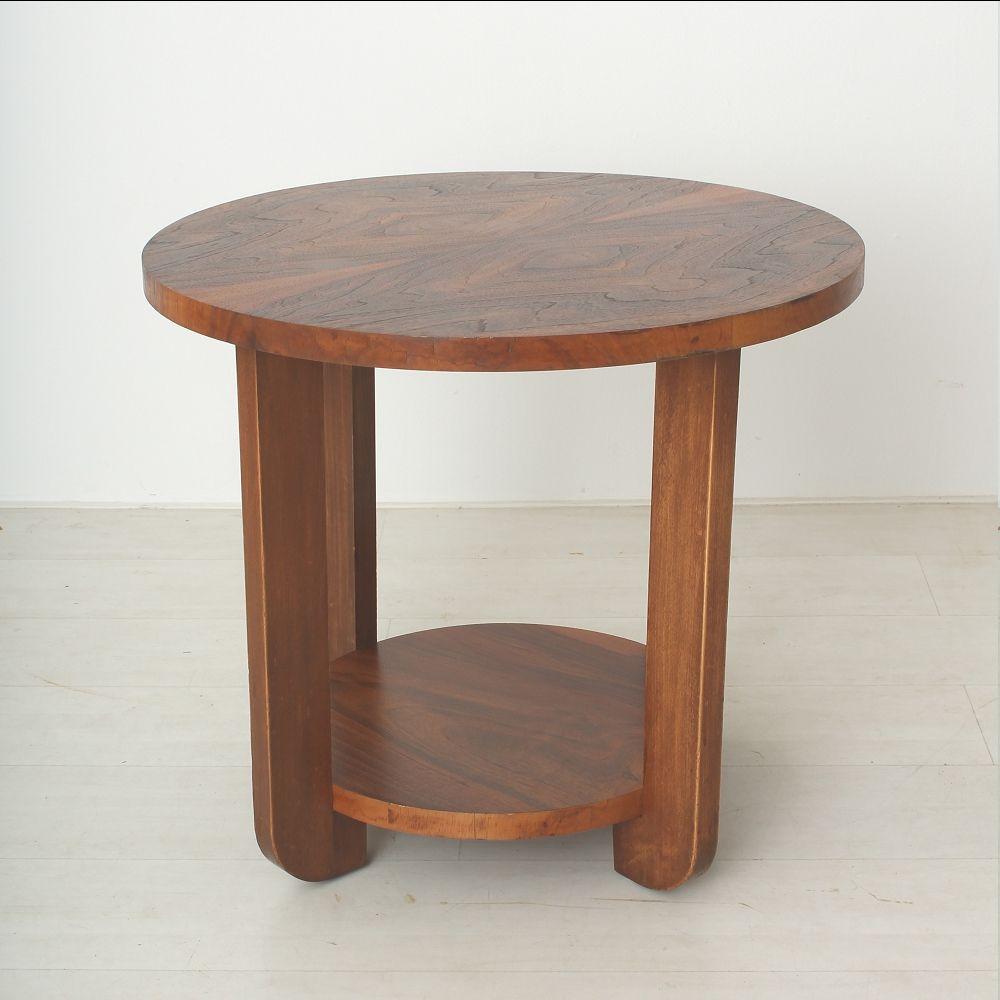 Art Deco Walnut Beech Coffee Table