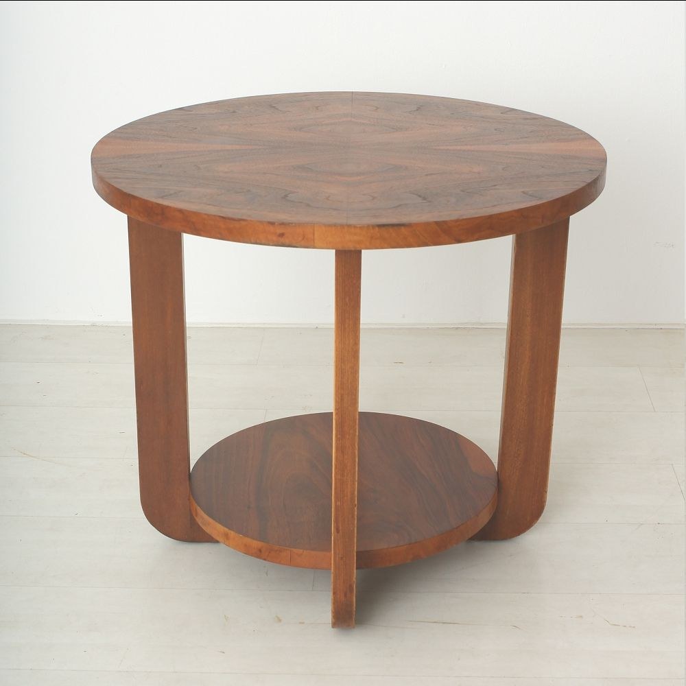 Art Deco Walnut Beech Coffee Table For Sale At Pamono