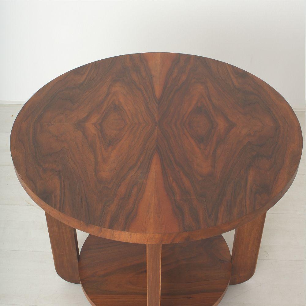 Art Deco Couchtisch aus Nussholz & Buchenholz bei Pamono