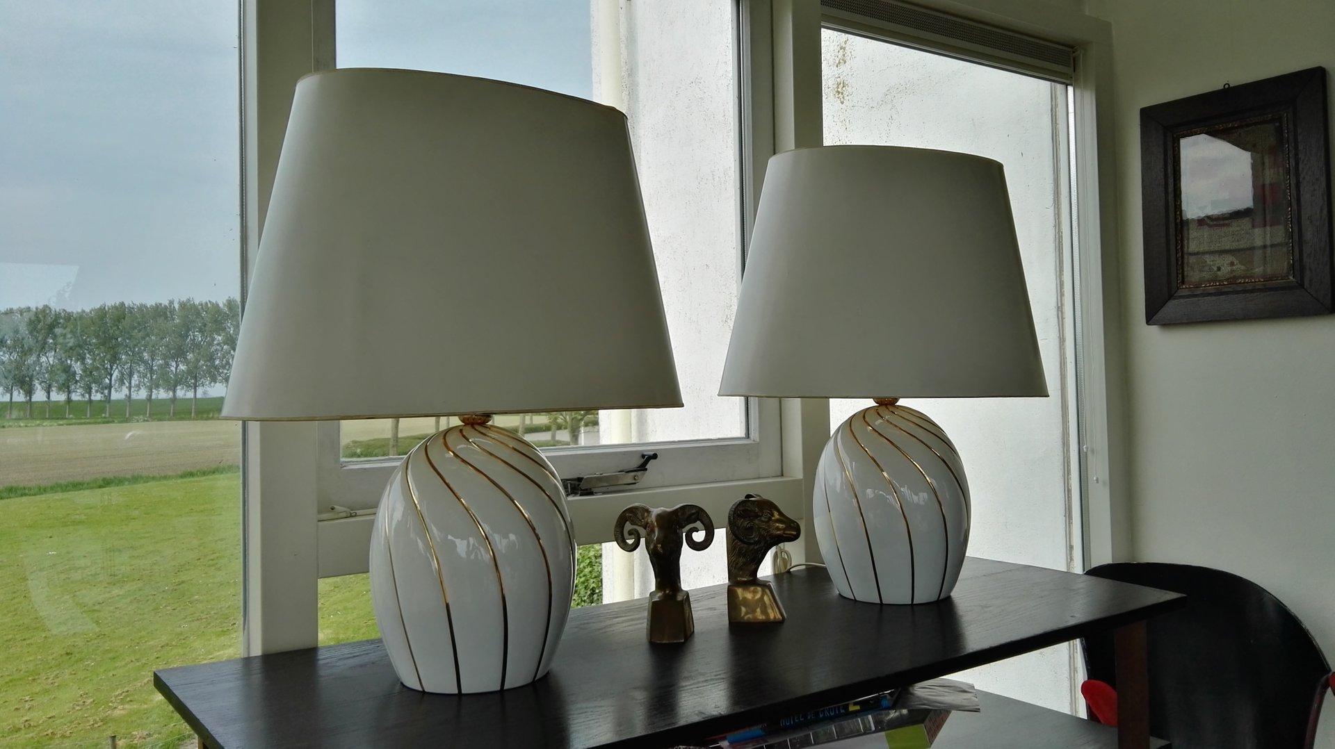 italienische tischlampen aus keramik 1970er 2er set bei