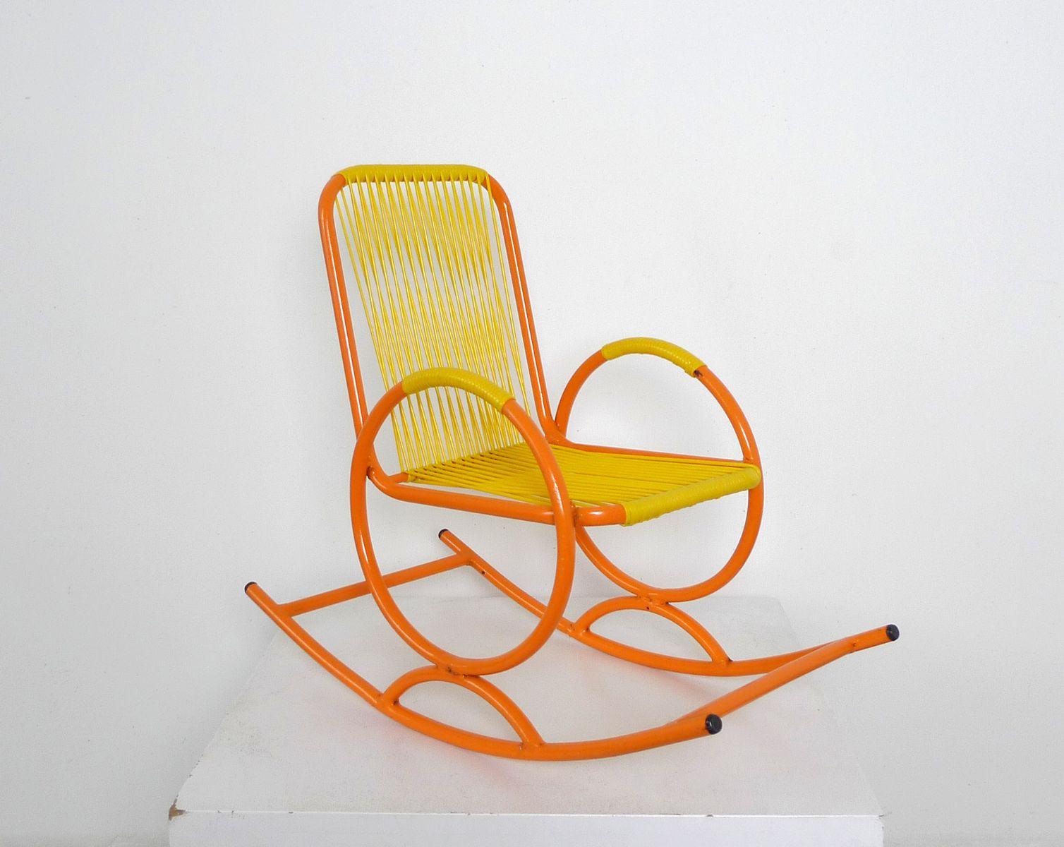 rocking chair d 39 enfant orange italie en vente sur pamono. Black Bedroom Furniture Sets. Home Design Ideas