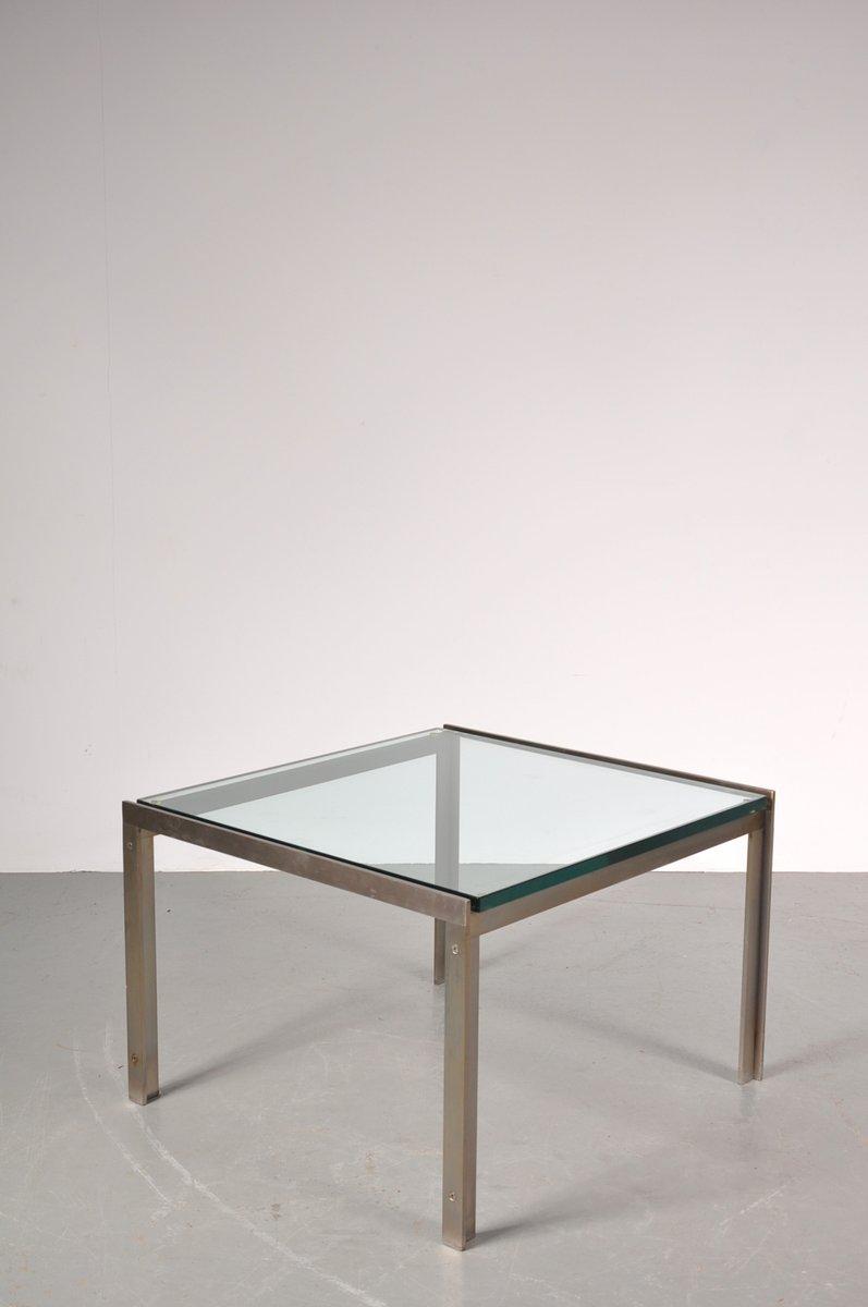 niederl ndischer couchtisch aus chrom glas von metaform 1960er bei pamono kaufen. Black Bedroom Furniture Sets. Home Design Ideas