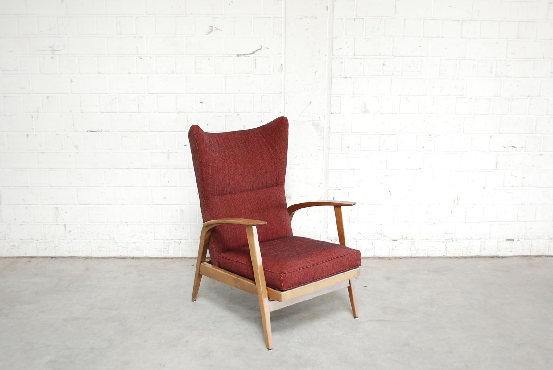 Reclining Wingback Chair from Knoll 1965 for sale at Pamono