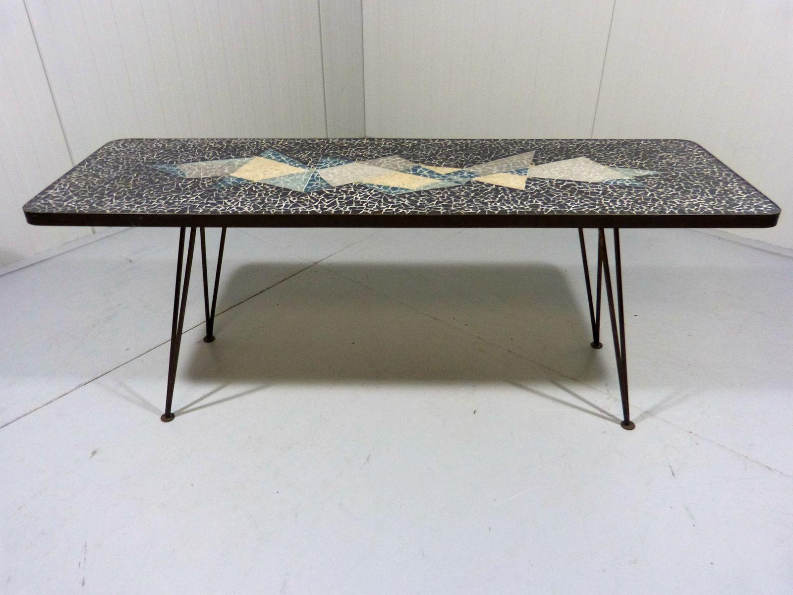table basse vintage en mosa que 1950s en vente sur pamono. Black Bedroom Furniture Sets. Home Design Ideas