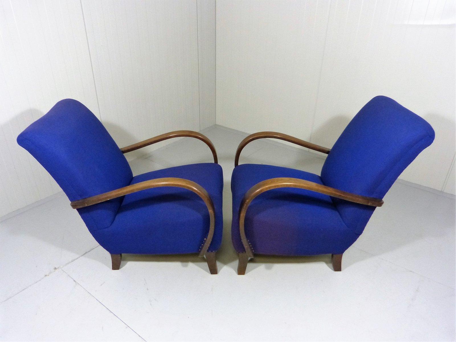 Artdeco Sessel blaue deco sessel 2er set bei pamono kaufen
