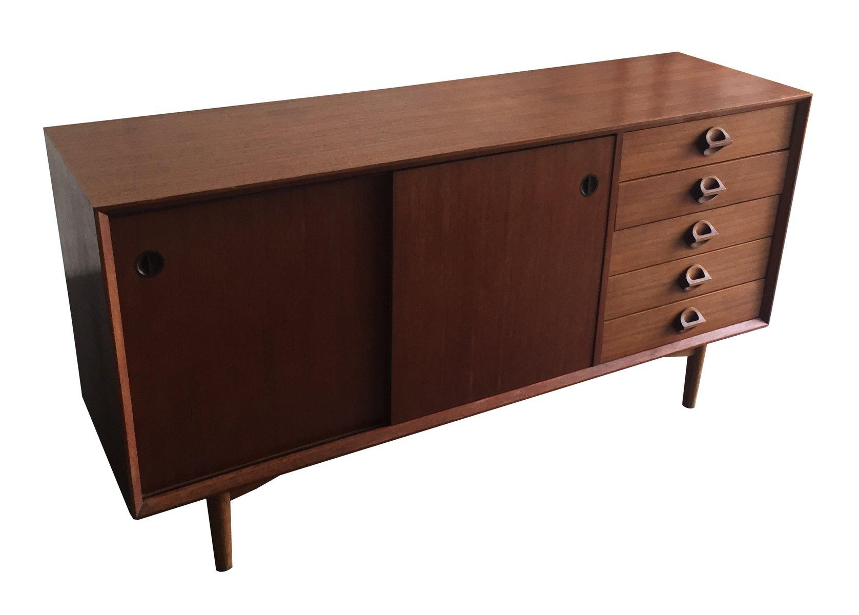 vintage sideboard with sliding doors 1960s for sale at pamono. Black Bedroom Furniture Sets. Home Design Ideas