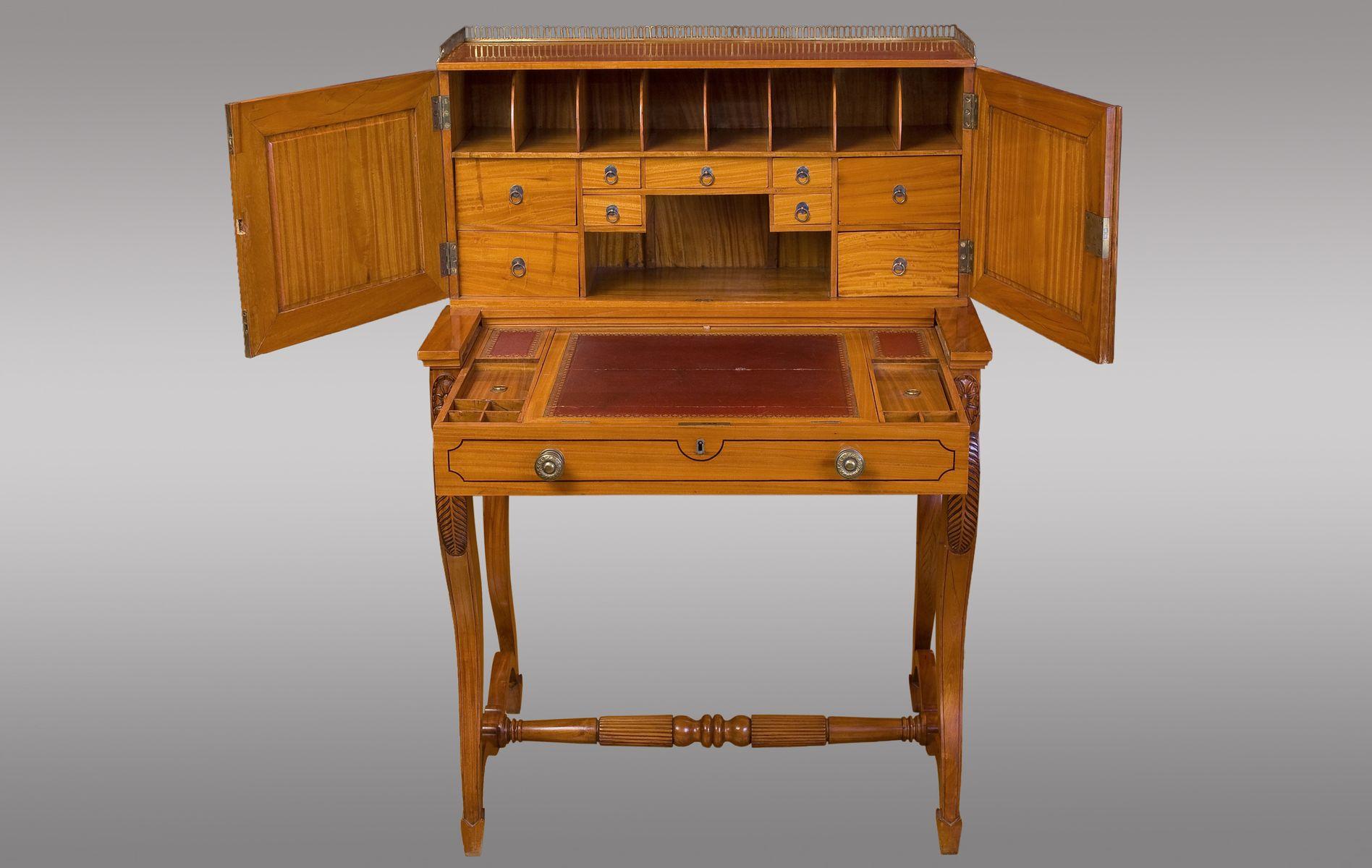Angloindian bonheur du jour 1840s for sale at pamono for Meuble bonheur du jour