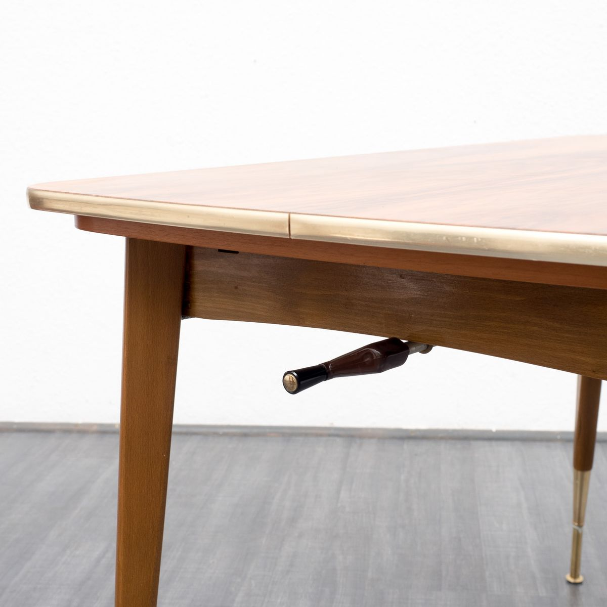Height Adjustable amp Extendable Walnut Dining Table 1950s