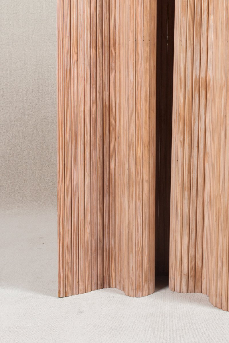 brown pine screen 100 by alvar aalto for artek for sale at pamono. Black Bedroom Furniture Sets. Home Design Ideas