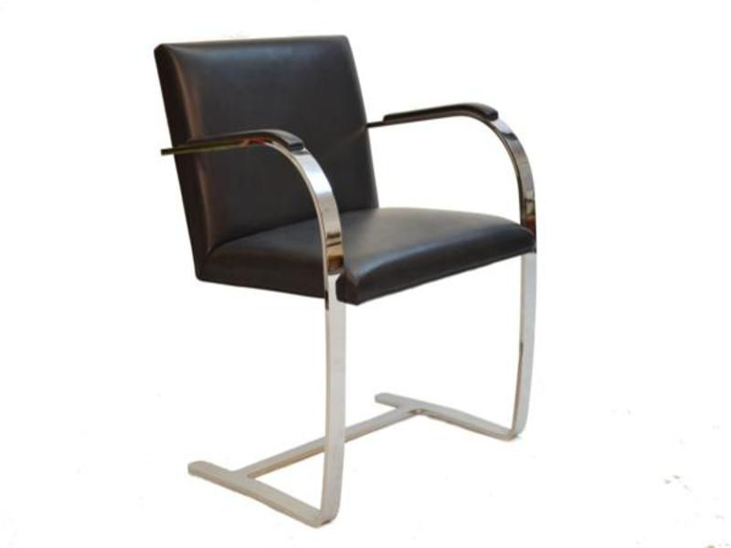 fauteuil brno mid century par ludwig mies van der rohe pour knoll en vente sur pamono. Black Bedroom Furniture Sets. Home Design Ideas