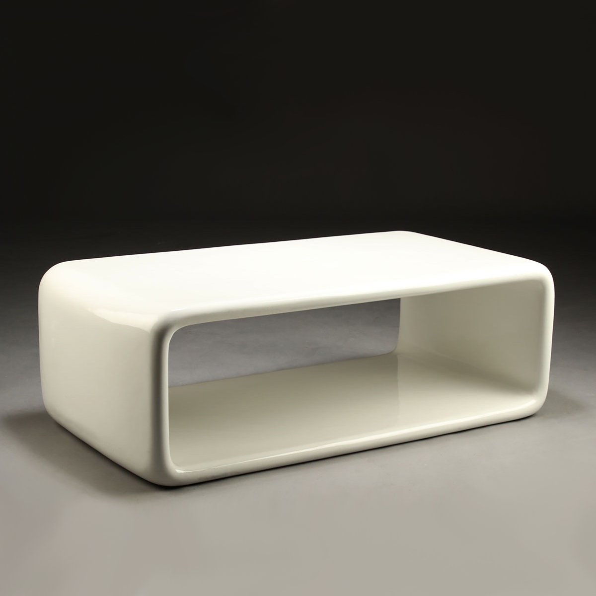 Danish White Fiberglass Coffee Table 1980s For Sale At Pamono