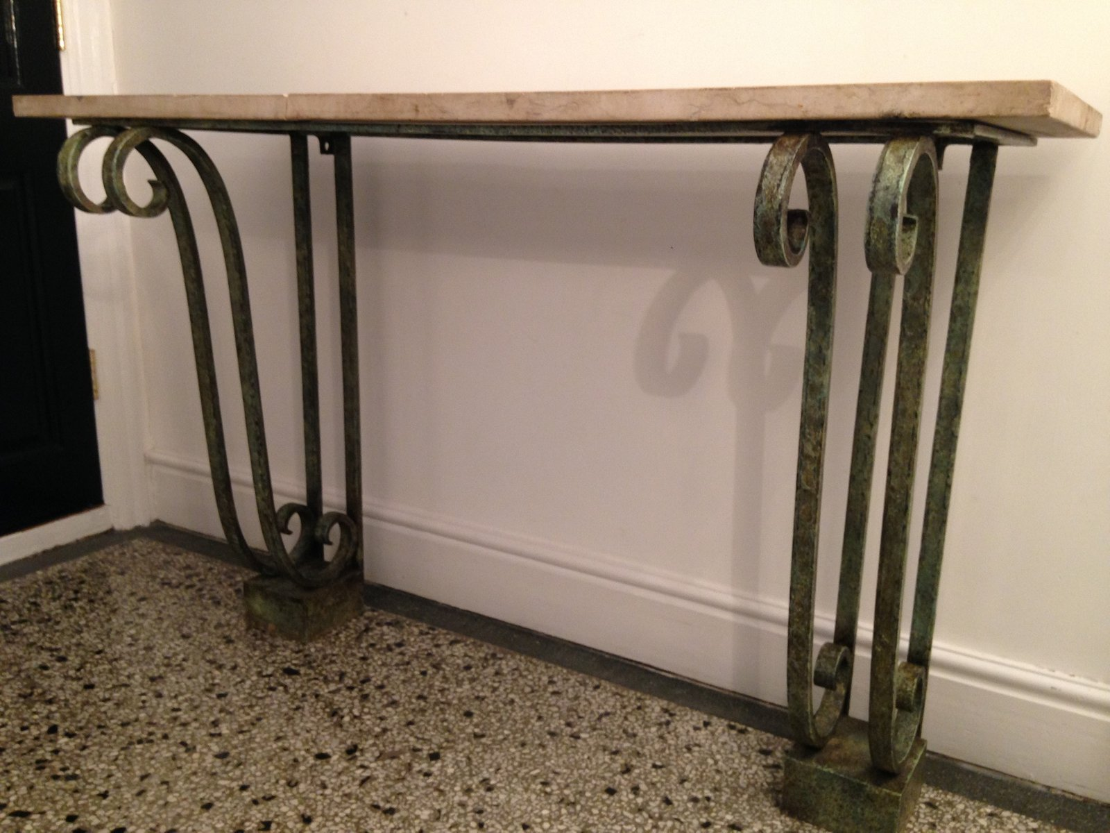 French Wrought Iron Console for sale at Pamono