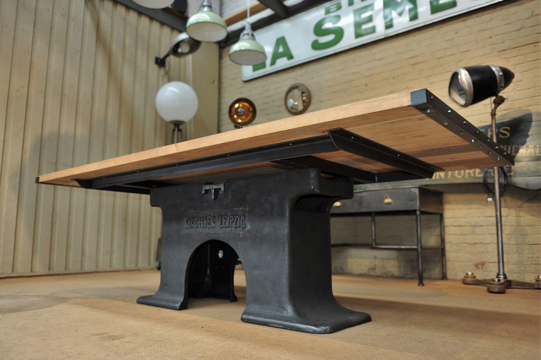 Table de salle manger industrielle en fer forg ch ne allemagne 190 - Fer forge en anglais ...