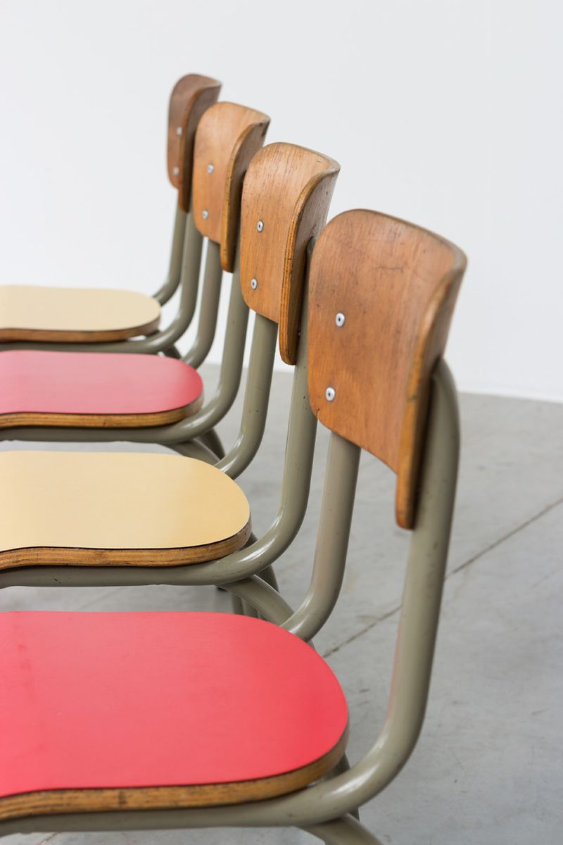 School Tables & Chairs Set from Tubax 1950s for sale at Pamono