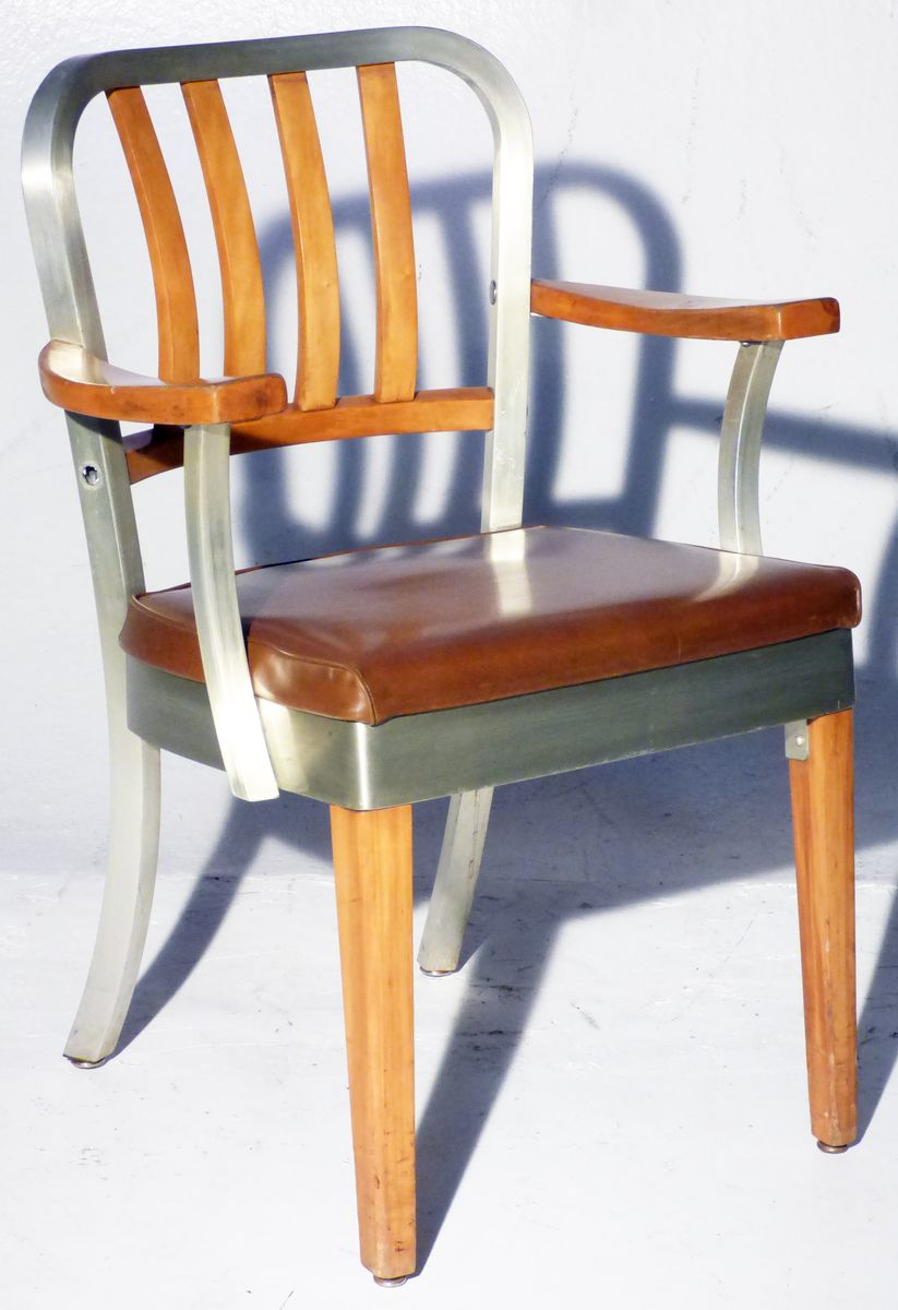 Vintage Aluminum Armchair from Shaw Walker for sale at Pamono