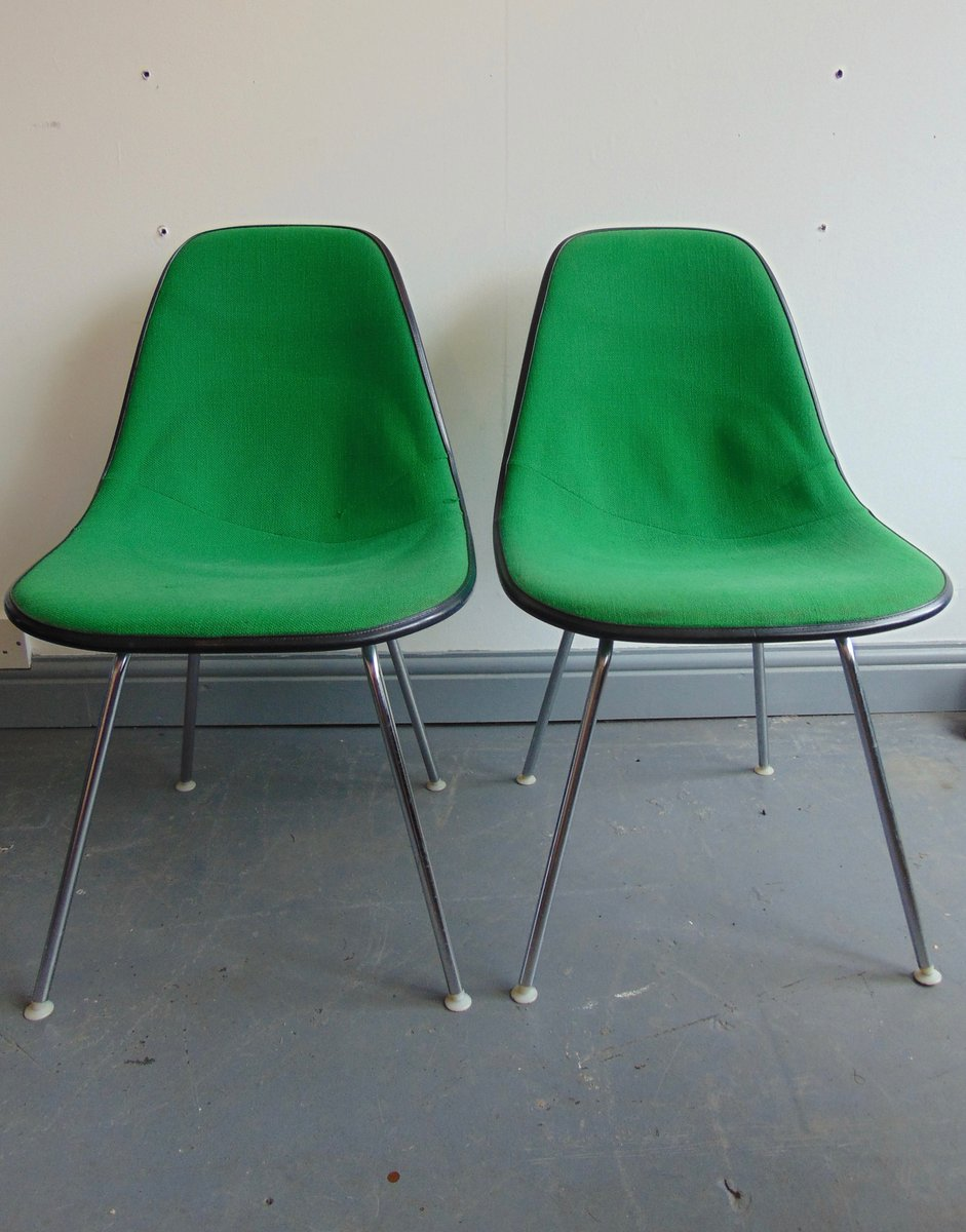 Vintage eames chair - Vintage Green Side Chair By Charles And Ray Eames For Herman Miller