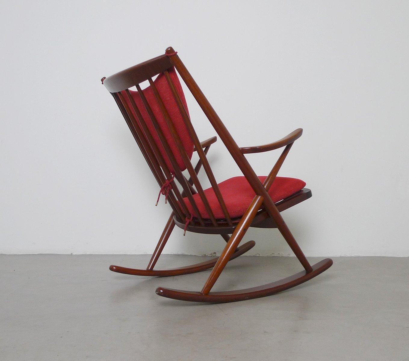 Frank reenskaug rocking chair - Mid Century Teak Rocking Chair By Frank Reenskaug For Bramin