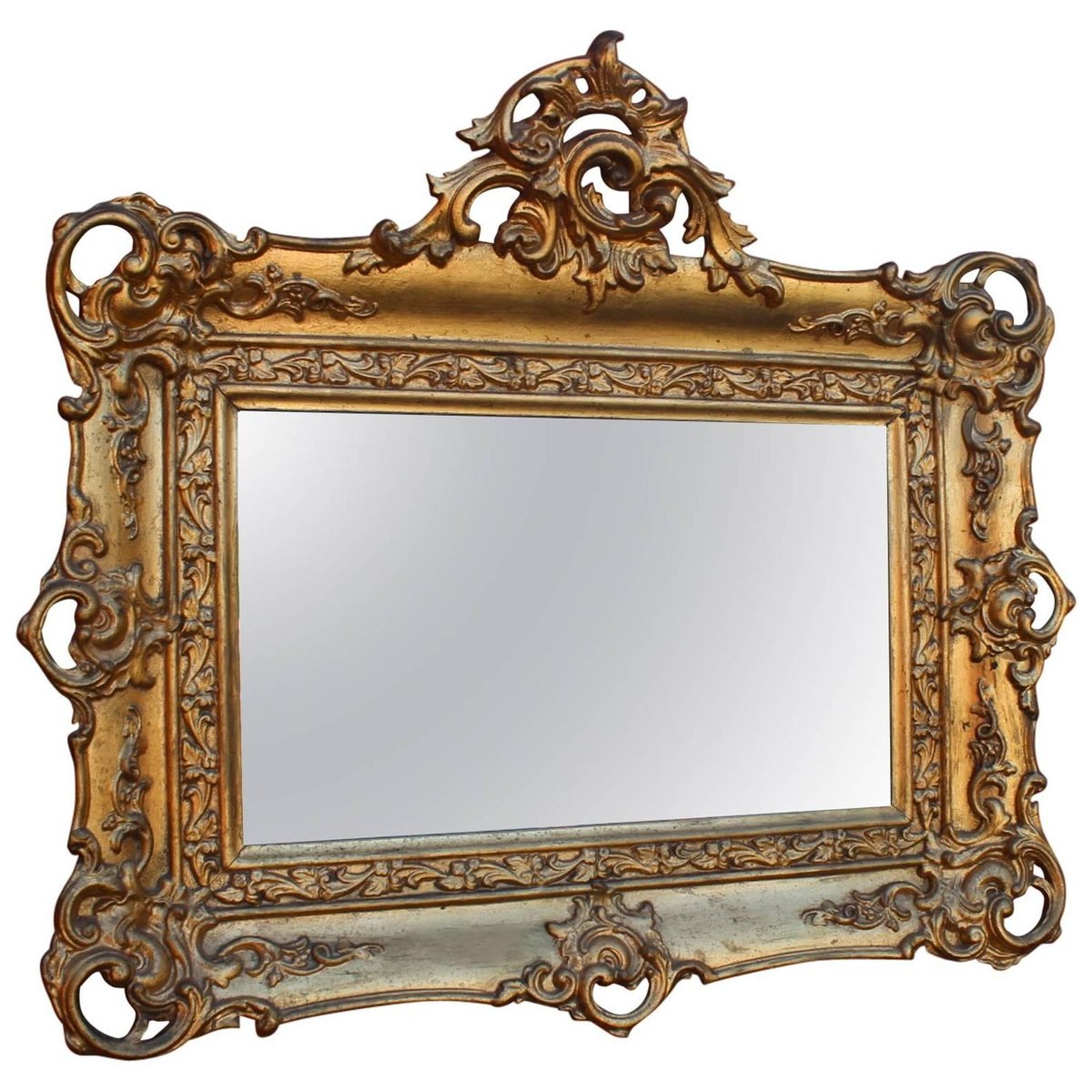 Antique gold leaf frame mirror 1820s for sale at pamono for Mirror frame