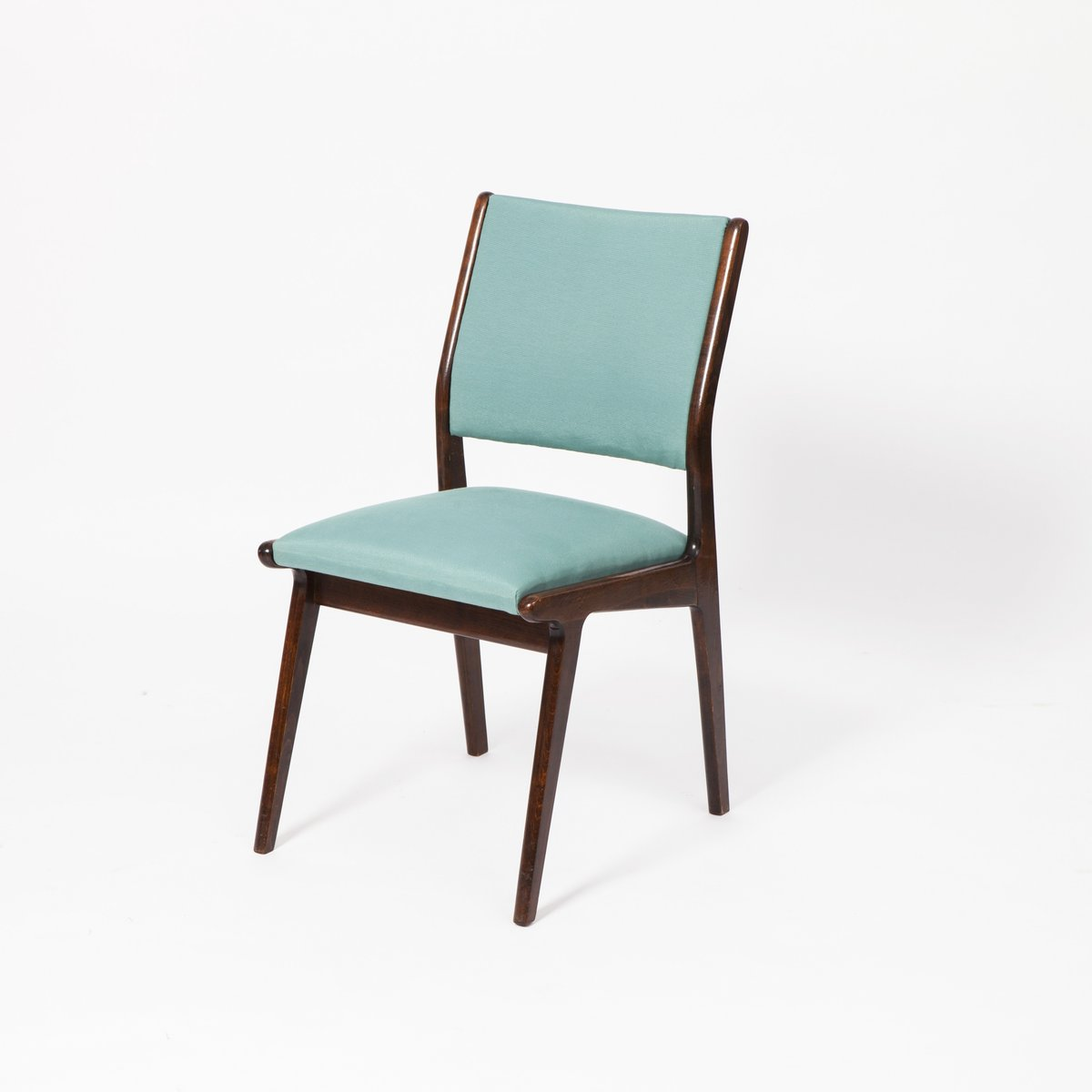 Rosewood dining chairs with light turquoise upholstery set of 2 for sale at pamono - Turquoise upholstered dining chair ...