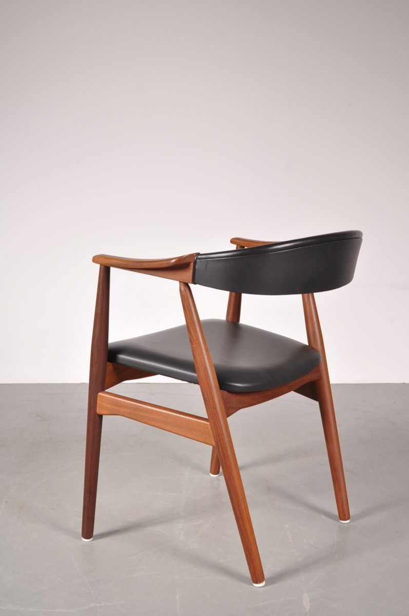 chaise de salon scandinave en teck et ska par t h harlev pour farstrup m bler 1960s en vente. Black Bedroom Furniture Sets. Home Design Ideas
