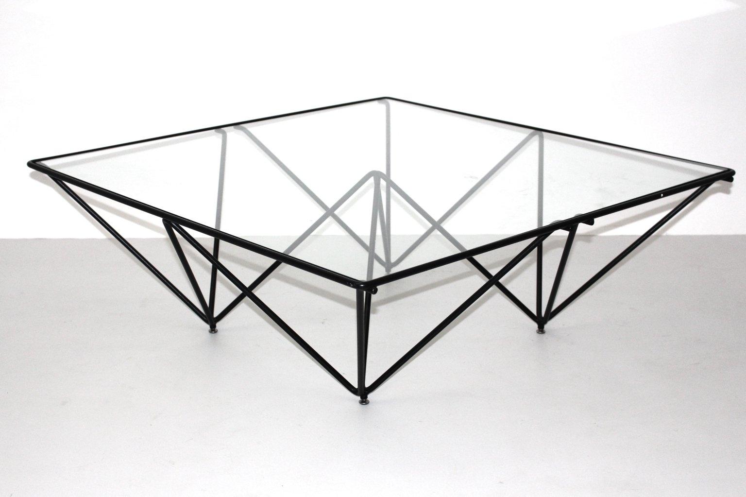 table basse g om trique 1980s en vente sur pamono. Black Bedroom Furniture Sets. Home Design Ideas