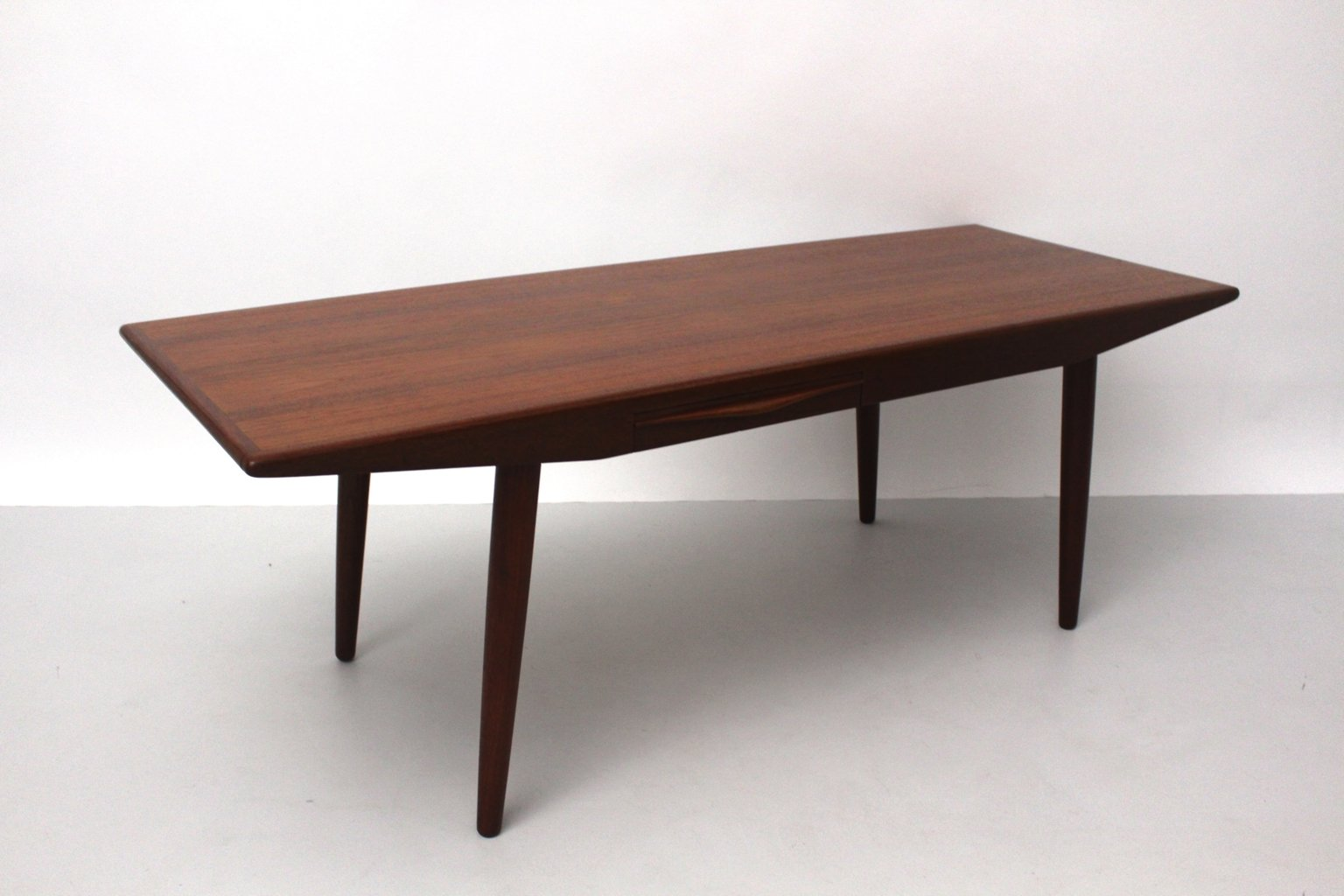 Superior Danish Teak Coffee Table With Drawers By Johannes Andersen, 1960s